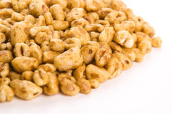 Popped wheat grains. Gluten-free, high protein grain cereal Stock Images