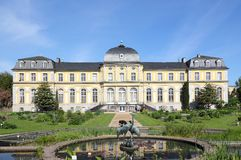 Poppelsdorf宫殿在波恩 免版税库存图片