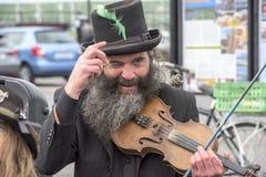 Poppenkastspeler, Ierland Stock Foto's