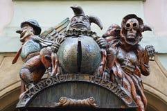 Poppenspel in Praag Stock Foto