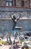 Poppentheater in het park in Kiev Stock Foto's