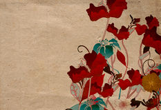 Poppies. Illustration of poppies on vintage paper Royalty Free Stock Photography
