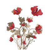 Poppies. Illustration of a floral background Stock Photography
