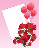 Poppies and balloons Stock Photos