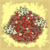 Poppies bouquet. Bouquet of wild flowers and poppies Royalty Free Stock Images