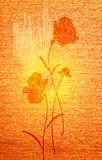 Poppies on the canvas. Royalty Free Stock Photography