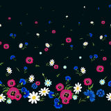 Poppies,daisies and cornflowers pattern-01 Stock Image