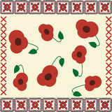 Poppies embroidery Royalty Free Stock Photos