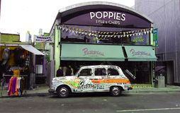 Poppies fish and chips restaurant in Camden royalty free stock photo