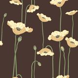 Poppies seamless background Royalty Free Stock Photos
