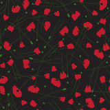 Poppies. Seamless vector patterns. Stock Photo