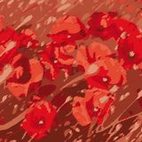 Poppies (vector) Stock Image