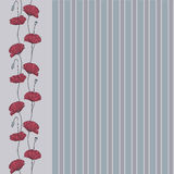 Poppies vertical border Royalty Free Stock Images