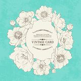 Poppies vintage card. Royalty Free Stock Photography