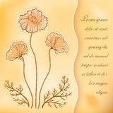 Poppies vintage vector greeting card Stock Images