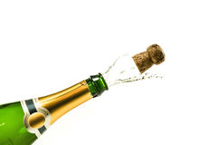 Popping champagne Stock Images