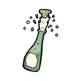 Popping champagne cartoon Royalty Free Stock Image