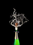 Popping champagne Stock Photography