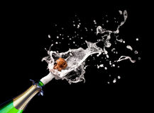 Popping champagne Royalty Free Stock Photography