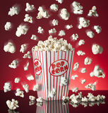 Popping Popcorn Box Stock Image