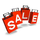 Popping Sale Paper Bags Royalty Free Stock Photos