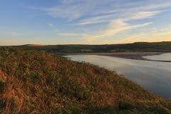 Poppit sands and the Teifi estuary Stock Photos