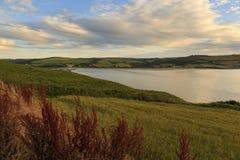 Poppit Sands and the Teifi estuary Stock Photo