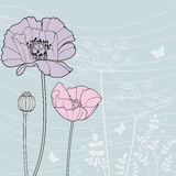 Poppy. Vector background with a poppy Stock Image
