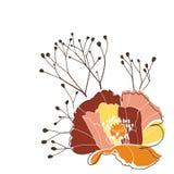 Poppy 3. Vector design element; poppy flower Royalty Free Stock Photography