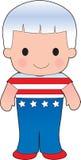 Poppy American Boy Stockbild