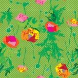 Poppy arras pattern Stock Images