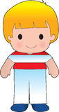 Poppy Austria Boy. A smiling, well dressed young lad wears clothing representative of Austria vector illustration