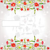 Poppy background glossy color banner Stock Photography