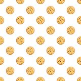 Poppy biscuit pattern seamless vector stock illustration