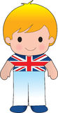Poppy British Boy. A smiling, well dressed young lad wears clothing representative of Britain royalty free illustration