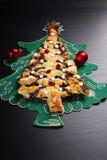 Poppy cake in christmas tree shape Stock Photography