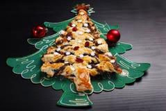 Poppy cake in christmas tree shape Stock Images