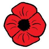 Poppy Clipart roja ilustración del vector