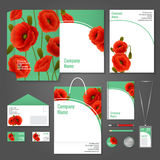 Poppy corporate identity Royalty Free Stock Photography