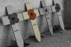 Poppy cross for remembrance day Royalty Free Stock Photos