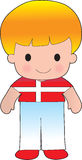 Poppy Denmark Boy. A smiling, well dressed young lad wears clothing representative of Denmark stock illustration