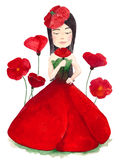Poppy dress Stock Images