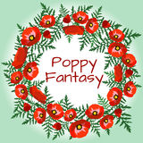 Poppy Fantasy Immagine Stock