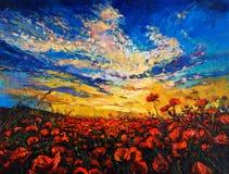 Poppy fields Stock Images
