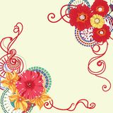 Poppy flower card design . Eps 10. Stock Images