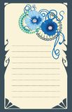 Poppy flower card design . Eps 10. Royalty Free Stock Photo