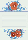 Poppy flower card design . Eps 10. Royalty Free Stock Image