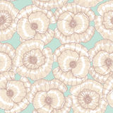 Poppy flower pattern Stock Image