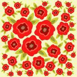 Poppy flowers background Royalty Free Stock Images