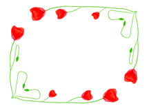Poppy flowers frame Royalty Free Stock Photos